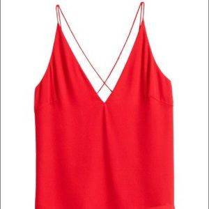 NWOT H&M Red Cross Back Tank Top